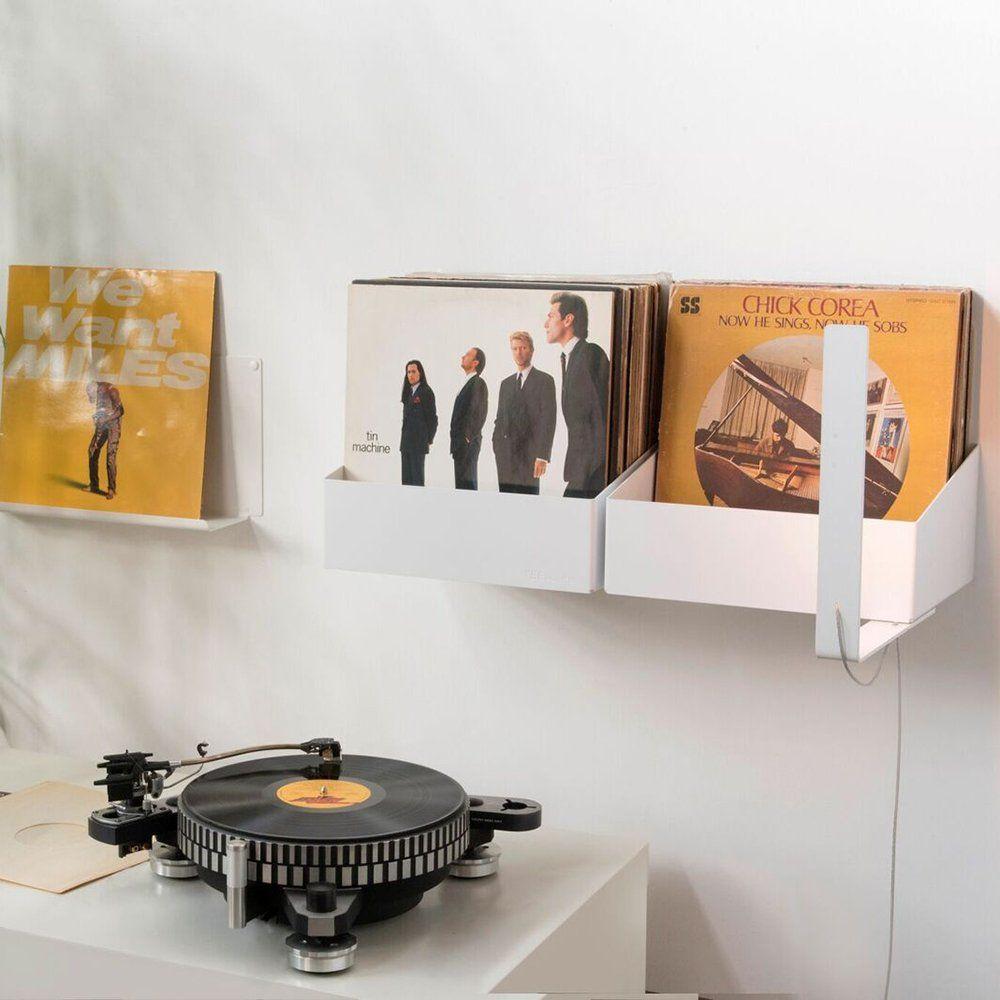 Etageres Blanches En Acier Pour Vinyle Teebooks Rangement Vinyle Etagere Vinyle Stockage De Vinyle
