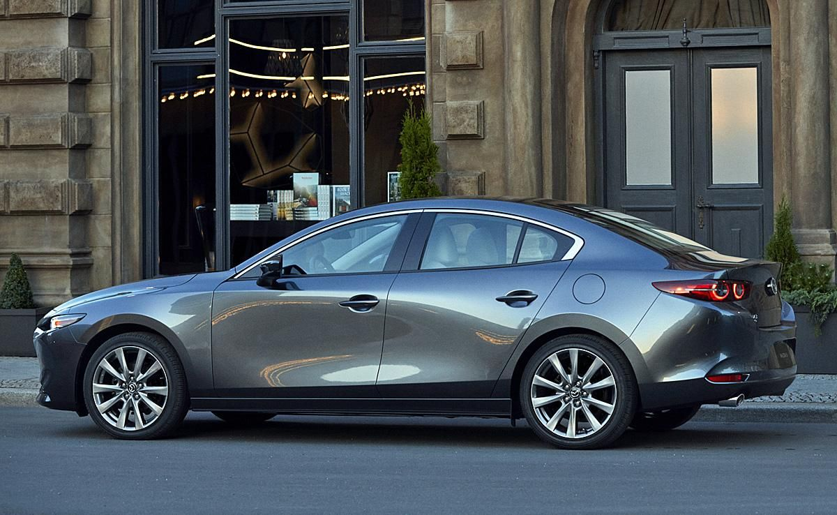 2020 Mazda 3 Sedan Gray Profile Photos First Pictures 2019