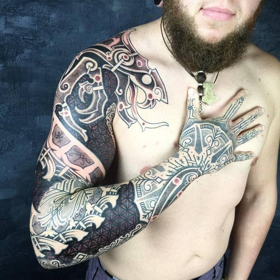 орнаменты и руны для настоящих викингов скандинавские татуировки от
