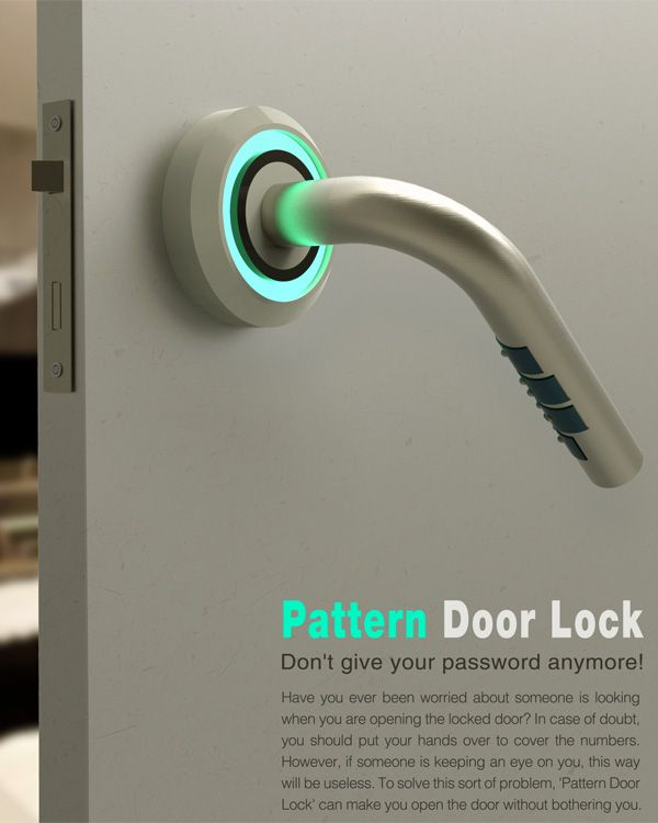 Pattern Door Lock Is Designed With The Code Combination Hidden Out