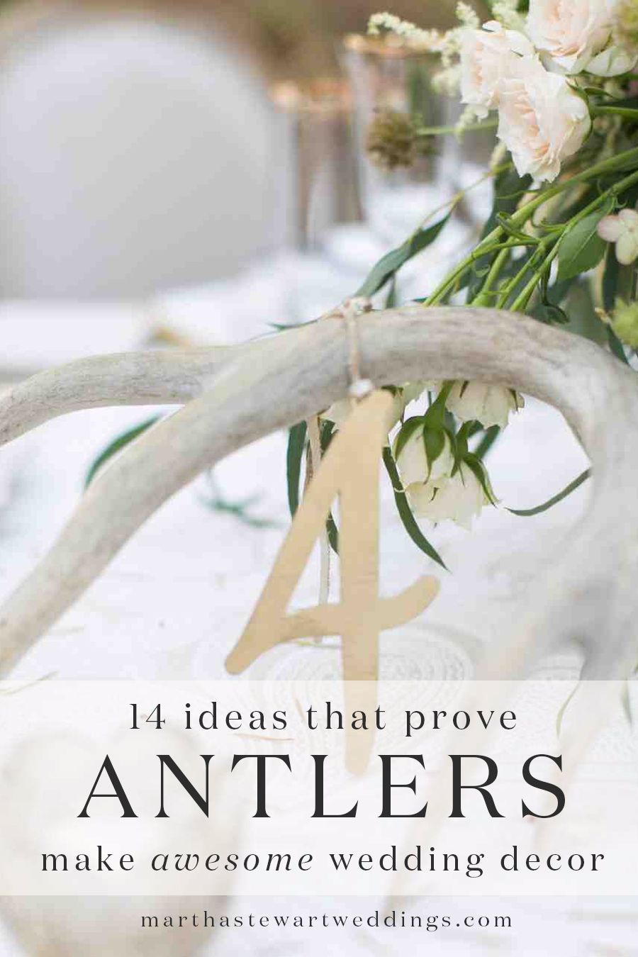 14 Ideas That Prove Antlers Make Awesome Wedding Décor | Pinterest ...
