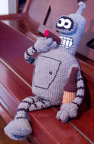 Bender Bending Rodriguez pattern by Soph Stitch