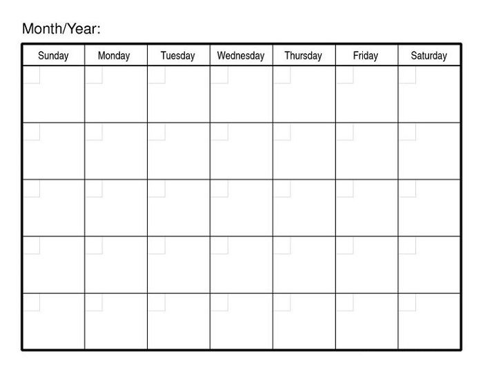 Monthly Calendar Printables Calendar Template Printable