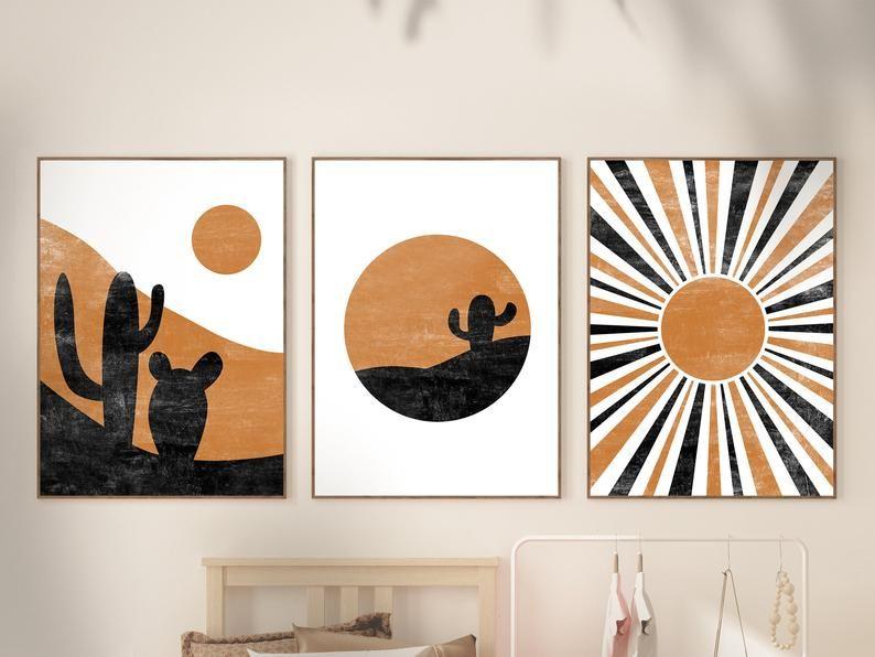 Anche un'operazione apparentemente innocua come dipingere le pareti di casa può rivelarsi un gesto attento all'ambiente. Set Di Stampa Astratto Midwest Di 3 Mid Century Modern Art Etsy Nel 2021 Arte Su Tele Piccole Arte Geometrica Pittura Geometrica