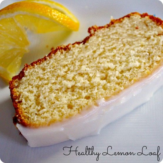 Lemon Loaf that uses Greek Yogurt as  replacement for butter! Still yummy but healthier than traditional lemon pound cake!