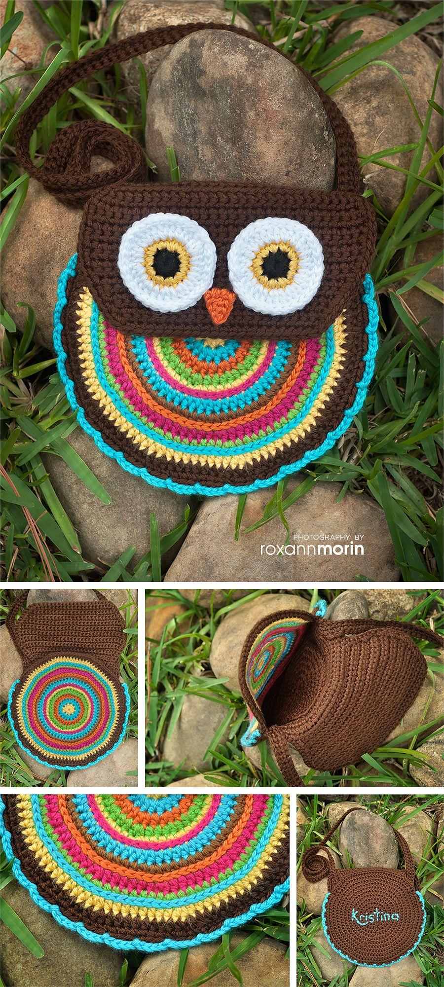 Free Crochet Patterns For Owl Purses : Crochet Pattern - Crochet Owl Purse (Pattern No. 005 ...