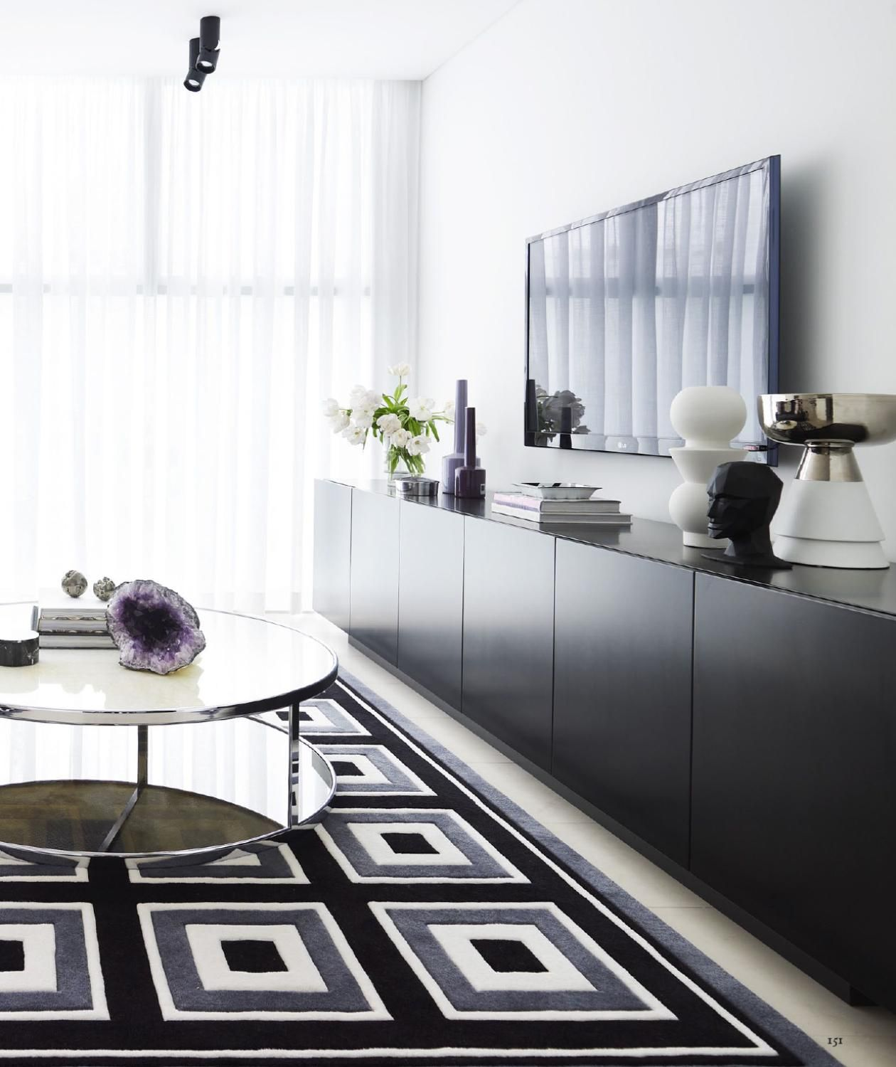 Adore Magazine | long console styling | Living Space | Pinterest ...