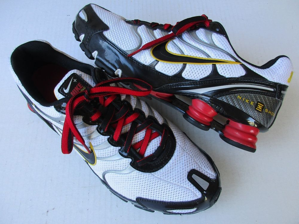 hot products best selling sports shoes Men's Nike Shox Turbo+ VI Running Shoes Size 12 Black White ...