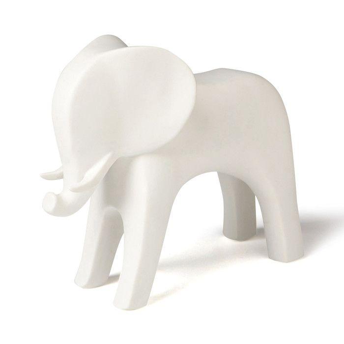 DwellStudio Elephant White Figurine   AllModern