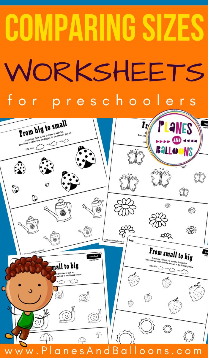 Big To Small Ordering Worksheets For Preschool Preschool Kids Preschool Toddler Learning Activities [ 1200 x 700 Pixel ]