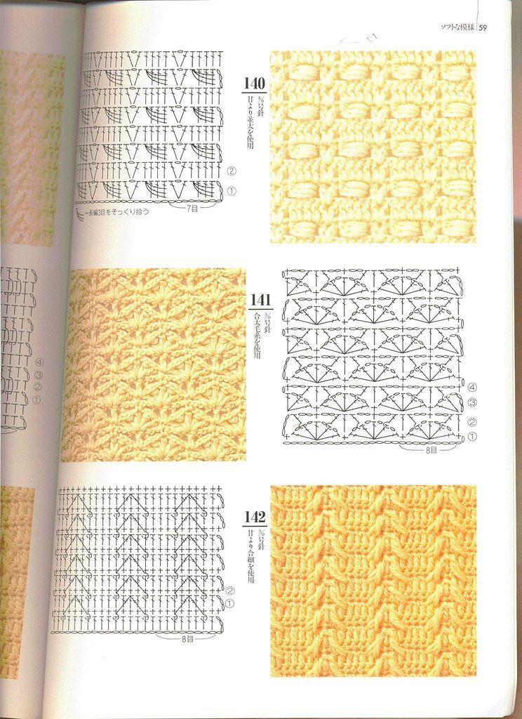 Todo para Crear ... : 200 Muestras de puntos en crochet | PUNTOS ...