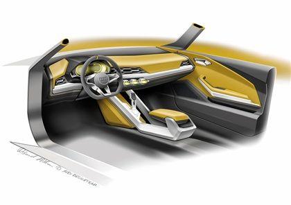 Audi Crosslane Coupe 2012 Interior Design Sketch Audi