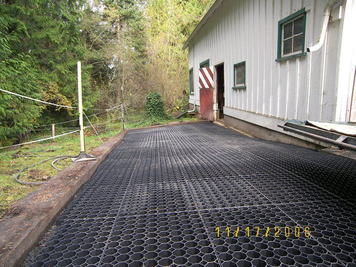 Stable Grid In My Dog Run I Put Landscaping Cloth On The