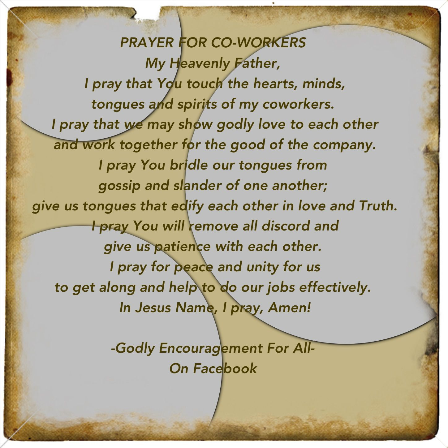 Prayer for coworkers Prayers, Prayer quotes, Daily prayer