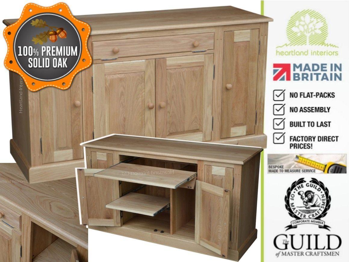 solid wood home office desks. Traditional Solid Oak Computer Workstation Desk, Home Office Sideboard Wood Desks U