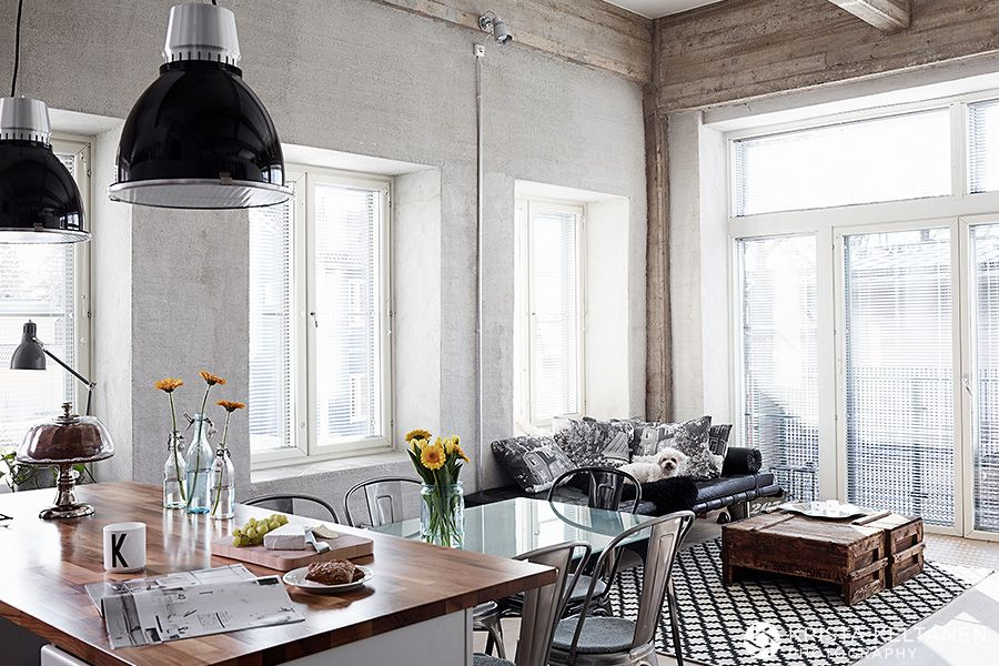 A Finnish Industrial loft by Krista Keltanen photography