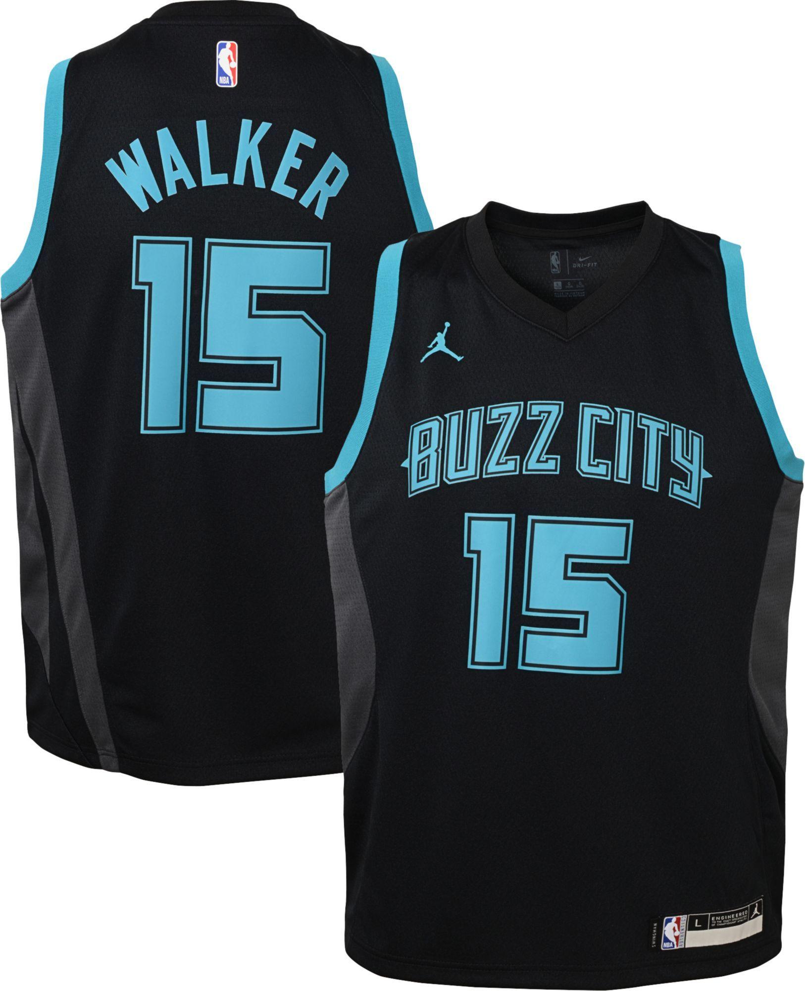 a6dcf4f76a6 Jordan Youth Charlotte Hornets Kemba Walker Dri-FIT City Edition Swingman  Jersey, Boy's, Size: Large, Black