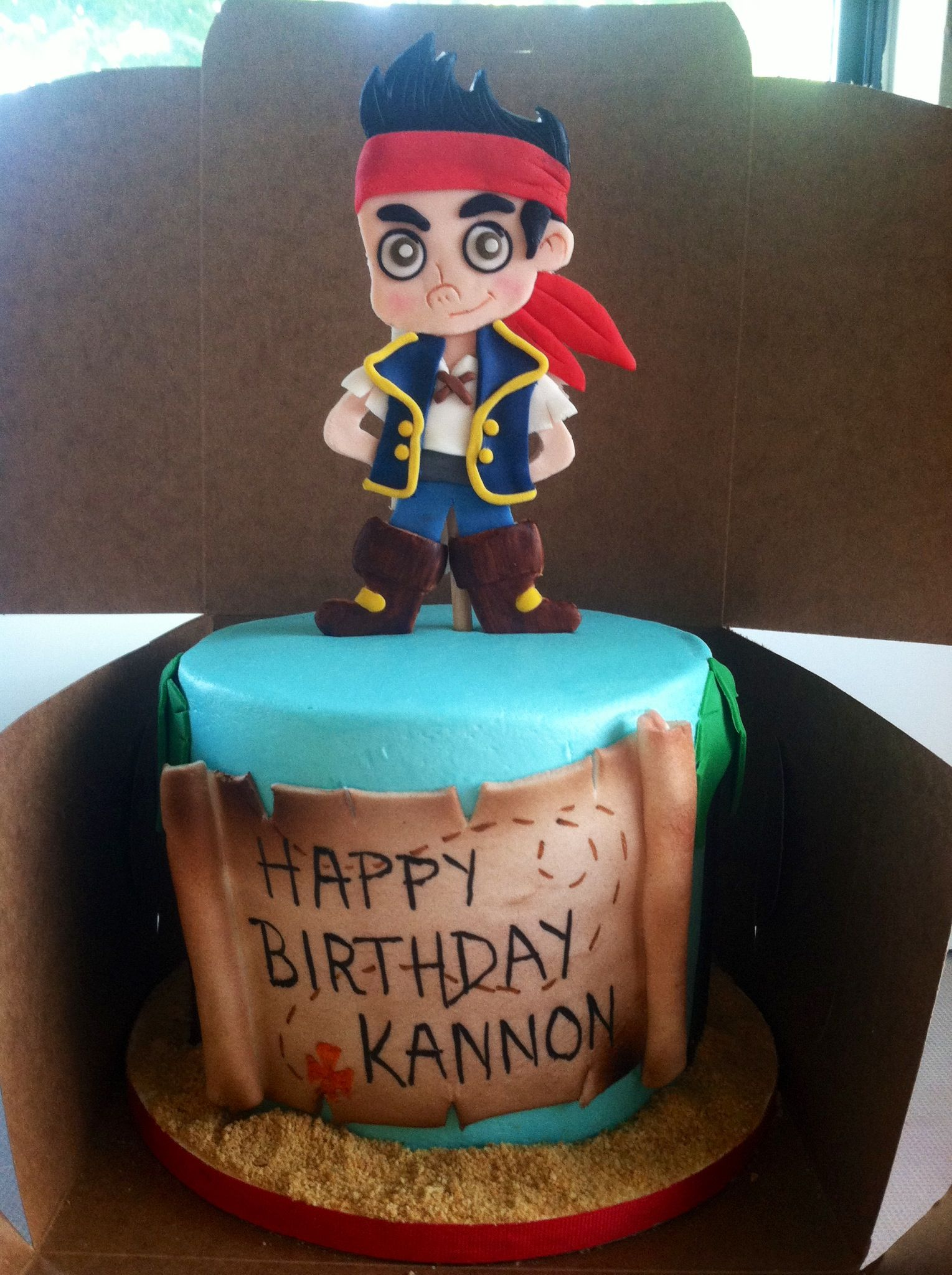 Jake And The Neverland Pirate Cake Sweet Cakes By Toni Pinterest