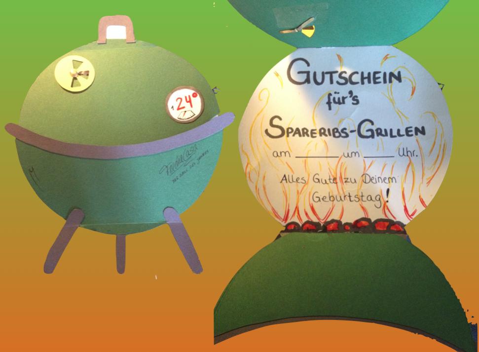 Geburtstagskarte Grillen Gutschein Birthday Card Barbeque