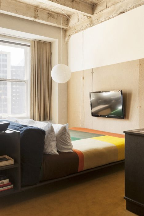 Inside Hotel Room Door: Industrial Chic… Ace Hotel's By Its In-house Design Team