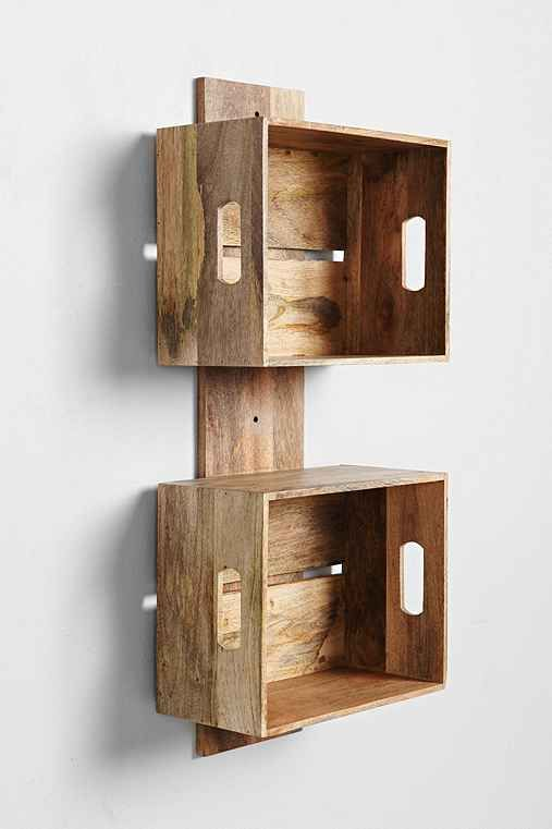 Stacked Crate Wall Shelf
