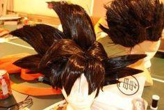 Taller Cosplay Vip Peluca Goku Foam Wigs Goku Hair Diy Wig