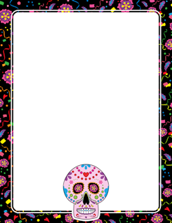 Day Of The Dead Border Bordersframes Day Of The Dead Borders