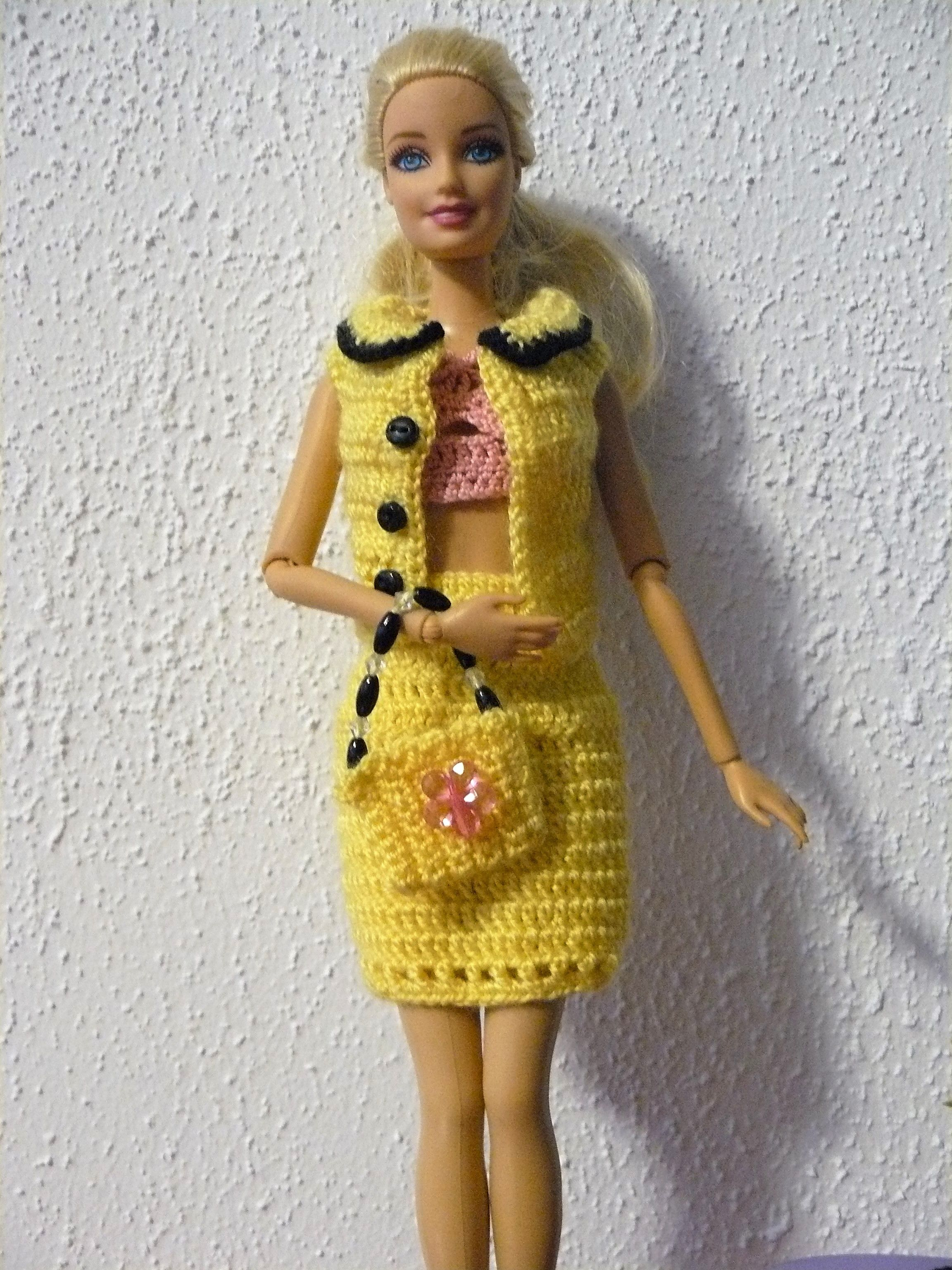 Barbie Crochetubranko Barbie Barbie Pinterest Häkeln