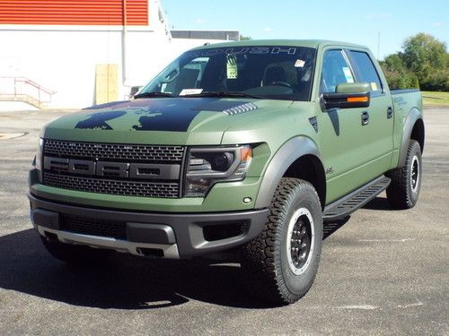 2013 Custom Olive Drab Roush Ford Raptor Ford Raptor Lifted
