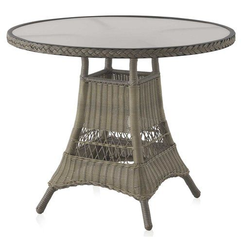Hazelwood Home Aluminium And Synthetic Fibre Bistro Table In 2019 Products Table Furniture Round Outdoor Dining Table Steel Dining Table