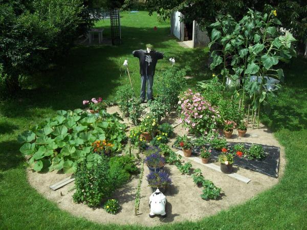 Potager Circulaire Alternant Legumes Et Fleurs Idees Jardin