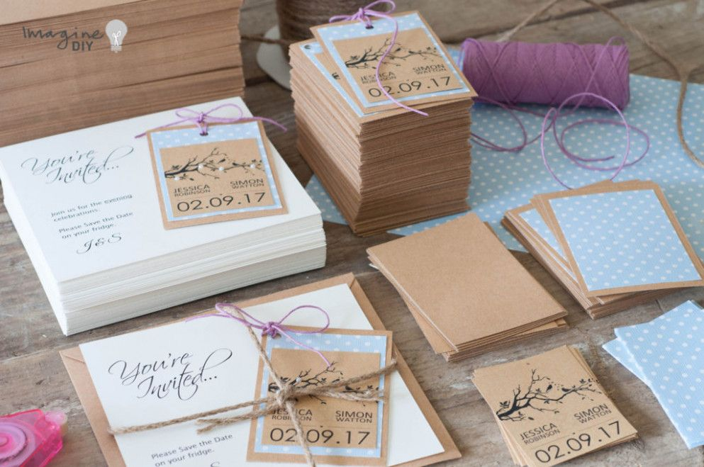 How To Make Pretty Save The Date Cards With Tags Imagine Diy
