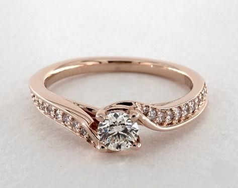.4ct Tension Round Engagement Ring Rose Gold