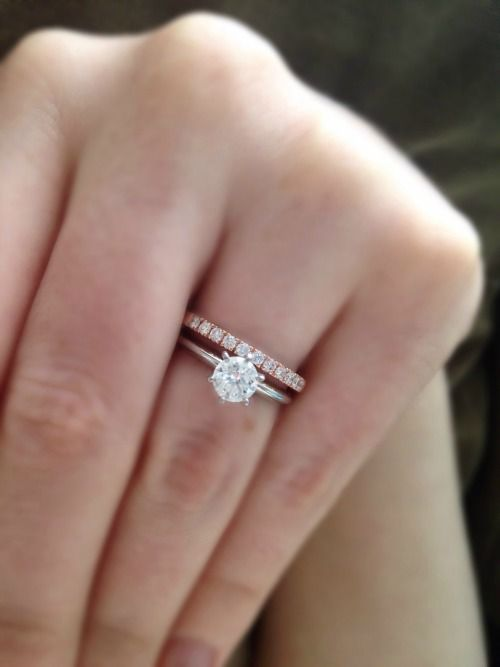 What To Do For A Band Show Me Your Solitaire With Band Weddin White Gold Engagement Rings Vintage Morganite Engagement Ring White White Gold Vintage Rings