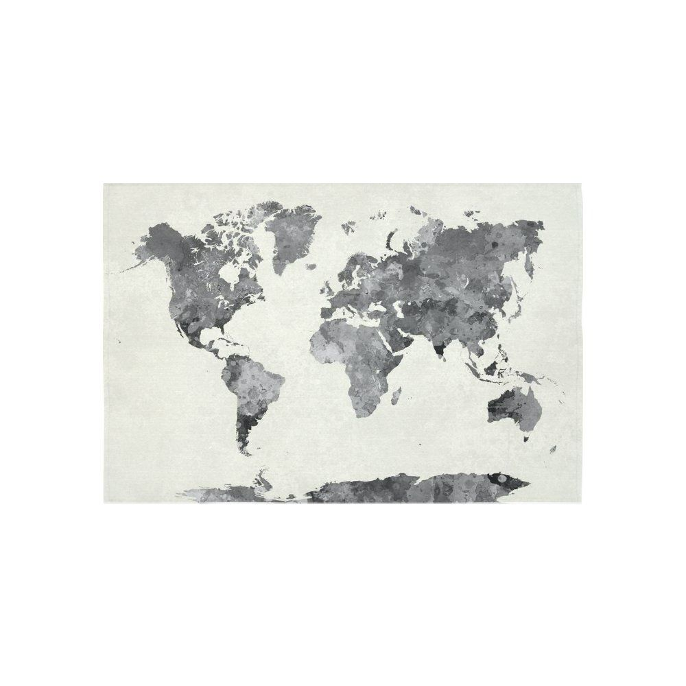 Amazon interestprint abstract splatter wall art home decor interestprint abstract splatter wall art home decor world map in watercolor painting gray tapestry wall hanging art sets 60 x 40 inches gumiabroncs Images