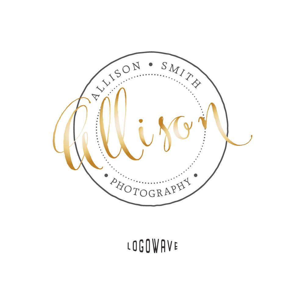 Handmade Logo Watermark Stamp Signature Round Golden Gold Premade Business By Logowave On Etsy