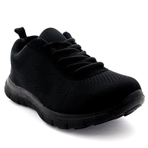 Mujer Get Fit Mesh Go Ejecutarning Atlético Caminar Zapatos Ejecutar - Negro/Negro - 37 FgM9bhDI