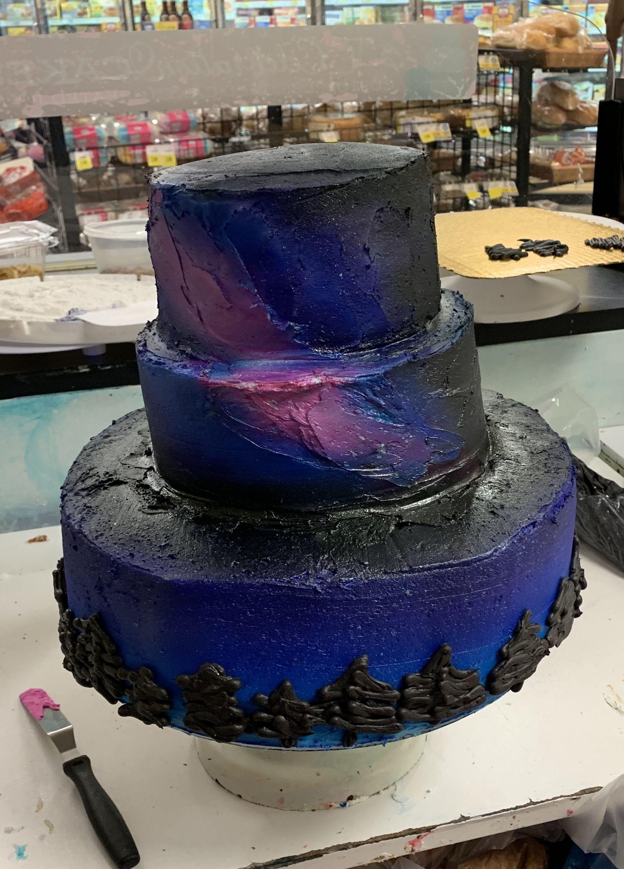 Galaxy wedding cake cake galaxy wedding wedding cakes