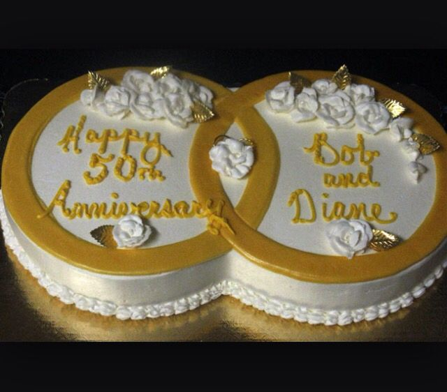 50th Anniversary Cakes, 50th