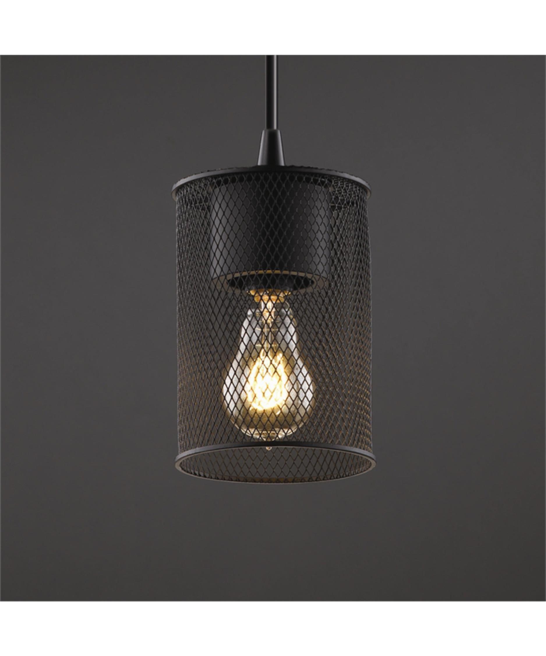 Justice Design Group Wire Mesh 9 Inch Wide 1 Light Mini Pendant ...