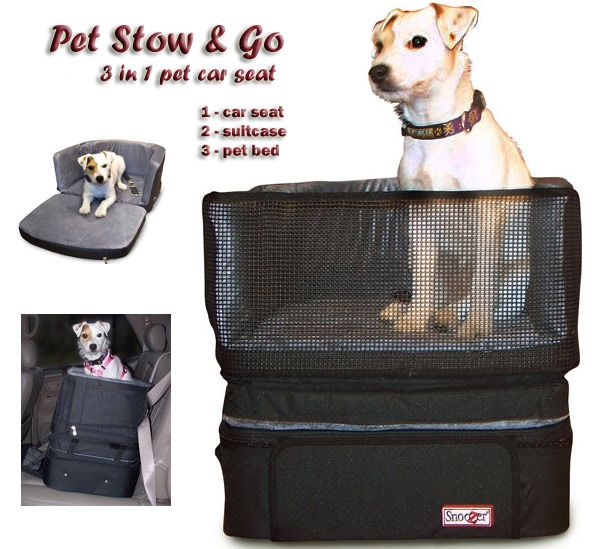 Stow And Go Pet Car Seat By Snoozer Has A Safety Hook That Attaches To Your Pets Harness For