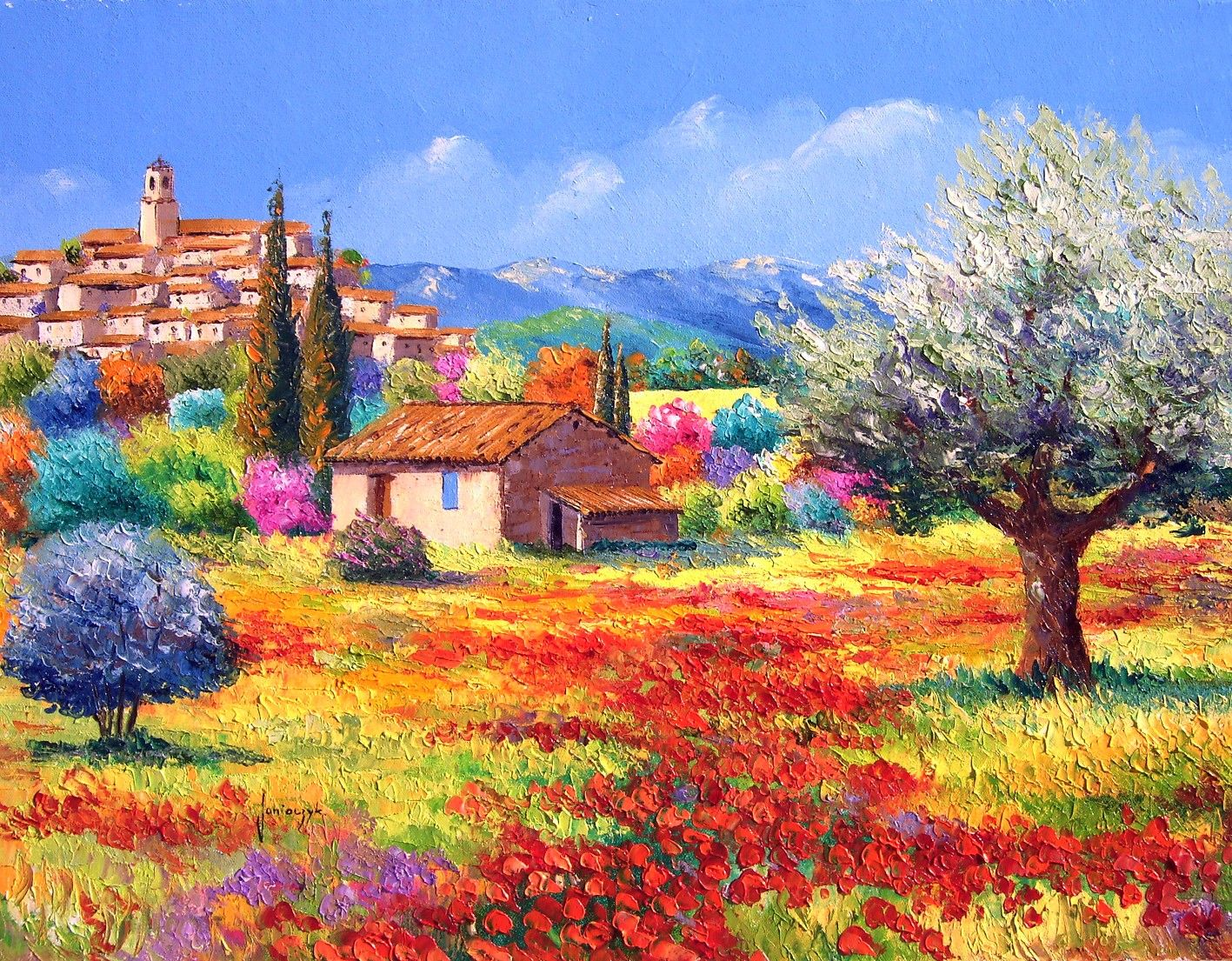JM JANIACZYK - Le village perché. | Beautiful PROVENCE | Pinterest ...