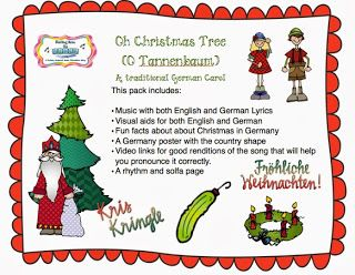 O Christmas Tree In English And German Visuals Christmas Activities World Thinking Day Winter Music Activities