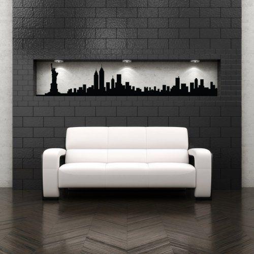 New York City Skyline, United States, Decal, Vinyl, Sticker,Wall Decor