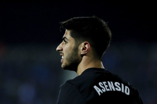 Marco Asensio Photos - Marco Asensio of Real Madrid CF reacts during the Copa del Rey quarter final first leg match between Real Madrid CF and Club Deportivo Leganes at Estadio Municipal de Butarque on January 18, 2018 in Leganes, Spain. - Leganes v Real Madrid - Spanish Copa del Rey