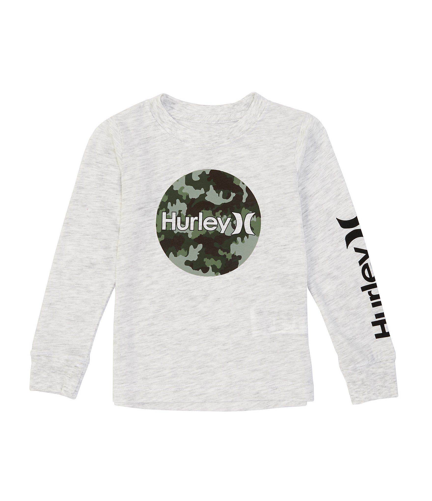 Hurley Boys Circular Print Fill Long Sleeve Top Long Sleeve Tops