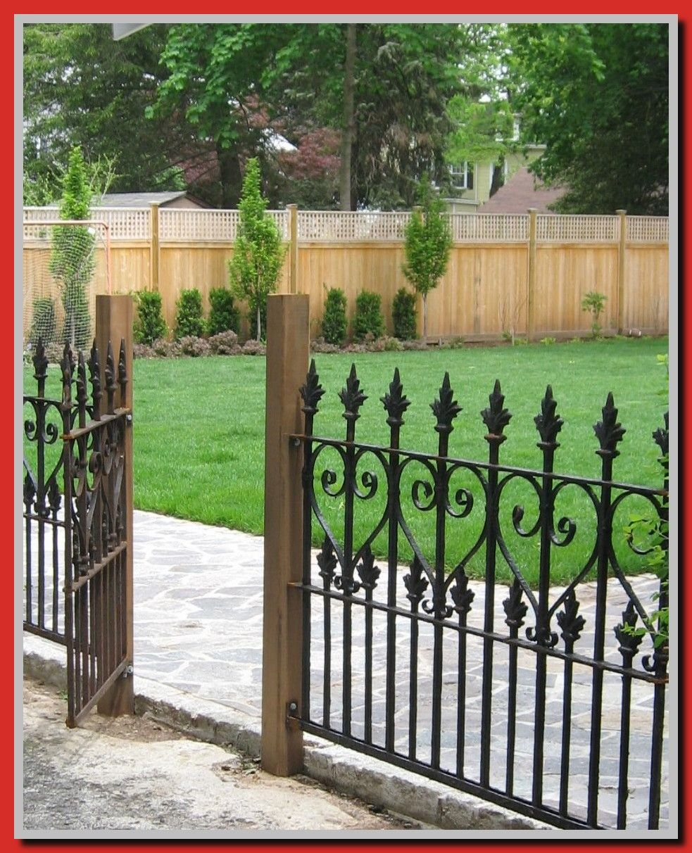40 Reference Of Fence Panels Front Garden In 2020 Iron Fence Panels Fence Design Black Garden Fence