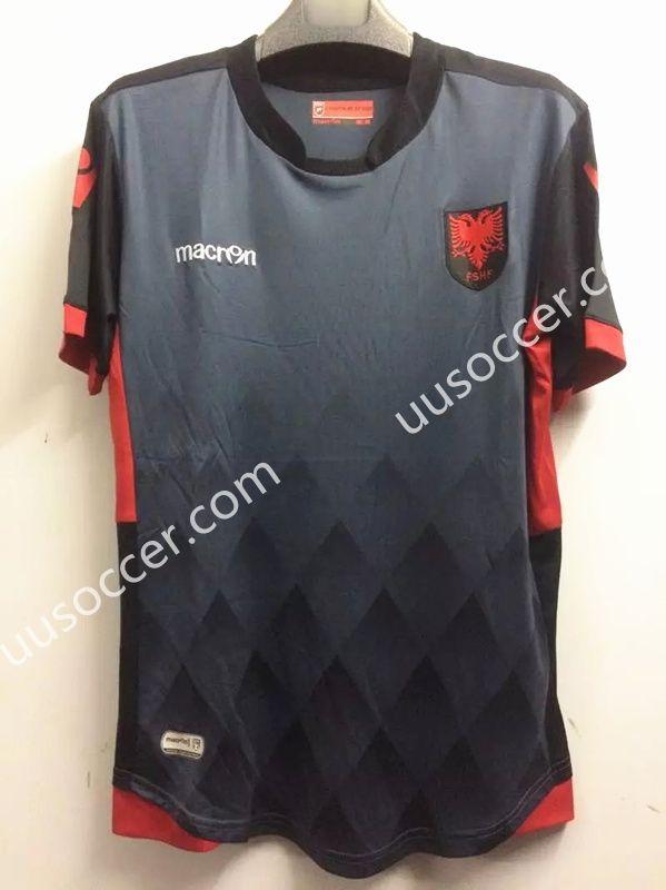 1da3ef99f 2017-18 Albania Black Thailand Soccer Jersey AAA Cheap Football Shirts