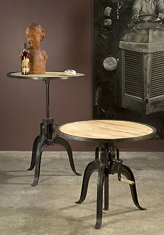 Industrial Crank Table at HudsonGoods.com