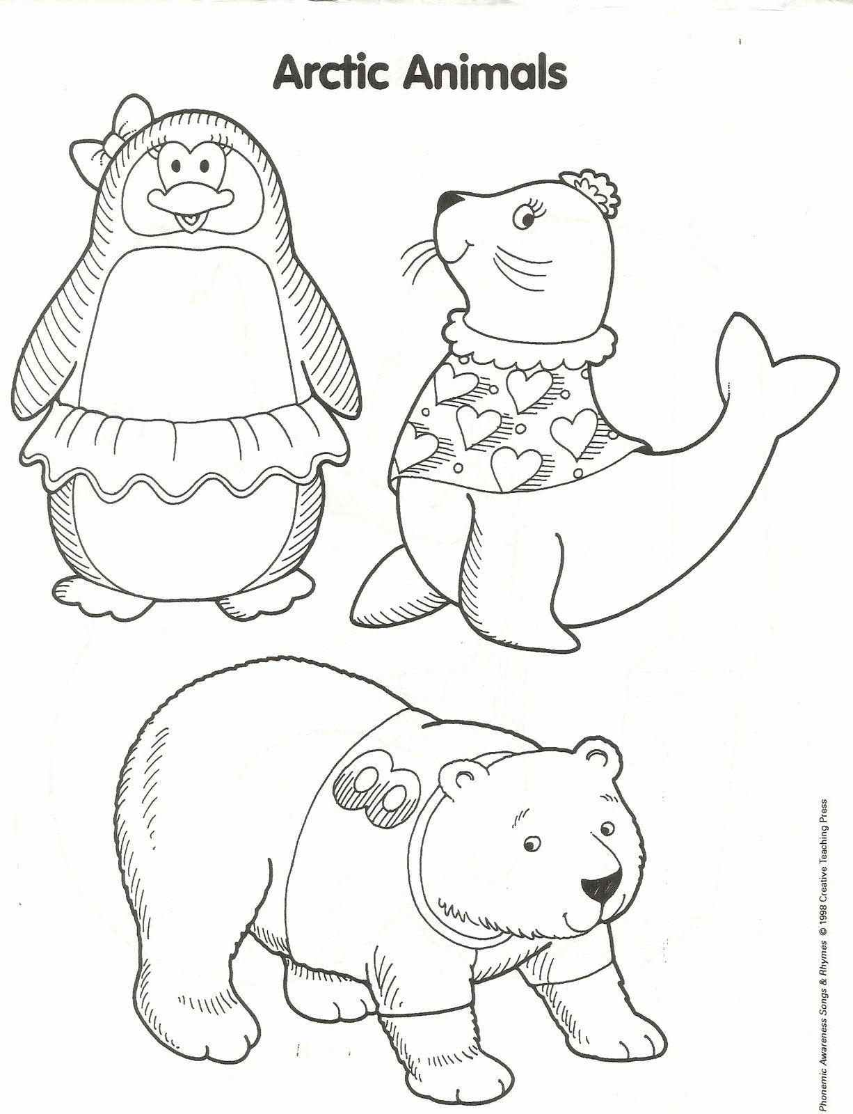 Winter Animals Coloring Pages Unique Squish Preschool ...